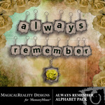 Always Remember Alphabet Pack-$0.50 (MagicalReality Designs)