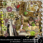 Always Remember Embellishment Pack-$1.75 (MagicalReality Designs)