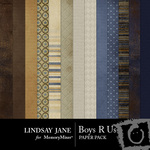 Boys R Us Paper Pack-$3.99 (Lindsay Jane)