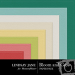 Bloom and Grow Embossed Paper Pack-$2.99 (Lindsay Jane)