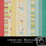 Bloom and Grow Paper Pack-$3.99 (Lindsay Jane)