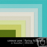 Spring symphony embossed pp small