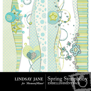Spring symphony borders pack medium
