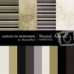 Neutral Add On Paper Pack-$3.99 (Albums to Remember)