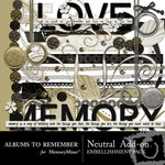 Neutral Add On Embellishment Pack-$2.99 (Albums to Remember)