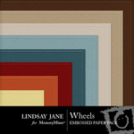 Wheels Embossed Paper Pack-$2.99 (Lindsay Jane)