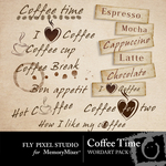 Coffee Time WordArt Pack-$1.49 (Fly Pixel Studio)