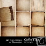 Coffee Time Paper Pack-$3.99 (Fly Pixel Studio)
