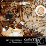 Coffee Time Embellishment Pack-$3.49 (Fly Pixel Studio)