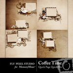 Coffee Time Quick Page QuickMix-$3.49 (Fly Pixel Studio)