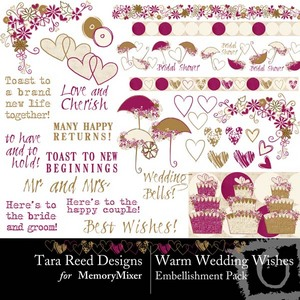 Warm wedding wishes emb medium