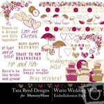 Warm Wedding Wishes Embellishment Pack-$2.99 (Tara Reed Designs)
