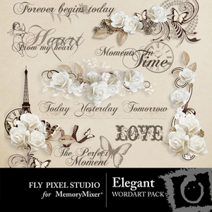 Elegant wordart medium