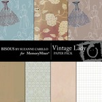 Vintage Lady Paper Pack-$3.49 (Bisous By Suzanne Carillo)