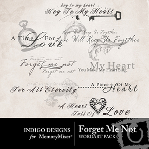 Forget me not wordart medium