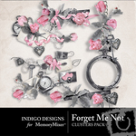 Forget Me Not Cluster Pack-$1.99 (Indigo Designs)