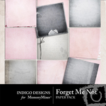 Forget Me Not Paper Pack-$3.99 (Indigo Designs)