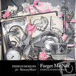Forget Me Not Embellishment Pack-$3.49 (Indigo Designs)