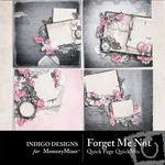 Forget Me Not Quick Page QuickMix-$3.49 (Indigo Designs)