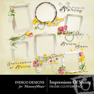 Impressions of spring clusters medium