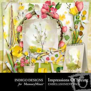 Impressions of spring emb medium