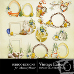 Vintage easter clusters small