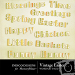 Vintage easter wordart small