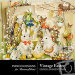 Vintage Easter Embellishment Pack-$2.99 (Indigo Designs)