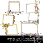 Flower Power Frame Pack-$2.99 (Lindsay Jane)