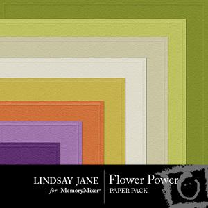 Flower power embossed pp medium