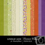 Flower Power Paper Pack-$3.99 (Lindsay Jane)