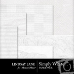 Simply White Paper Pack-$2.99 (Lindsay Jane)