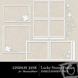 Lucky stamp frames 1 medium