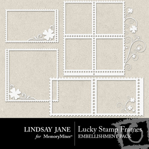 Lucky stamp frames 1 medium