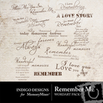 Remember Me WordArt Pack-$1.49 (Indigo Designs)