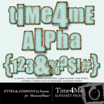 Time 4 Me Alphabet Pack-$2.49 (Ettes and Company by Fayette)