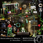 Boys Club Embellishment Pack-$3.49 (MagicalReality Designs)