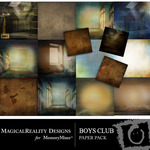 Boys Club Paper Pack-$3.99 (MagicalReality Designs)