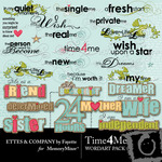 Time 4 Me WordArt Pack-$1.99 (Ettes and Company by Fayette)
