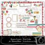Eat Cake Embellishment Pack-$2.99 (Karen Lewis)
