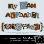 My Man Alphabet Pack-$2.99 (Ettes and Company by Fayette)