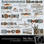 My Man Wordart Pack-$3.49 (Ettes and Company by Fayette)
