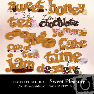 Sweet pleasure wordart medium