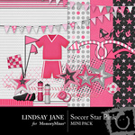Soccer Star Pink Mini Pack-$3.99 (Lindsay Jane)