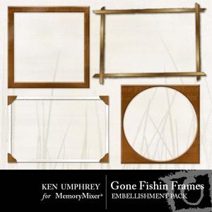 Gone fishin frames medium