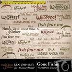 Gone fishin wordart small
