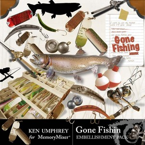 Gone fishin emb medium