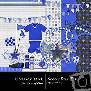 Soccer star blue mini medium
