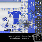 Soccer star blue mini small