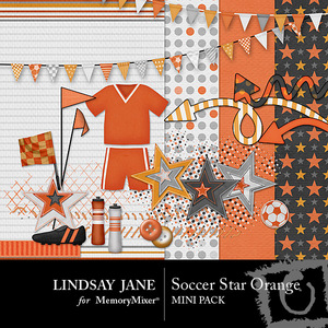 Soccer star orange mini medium